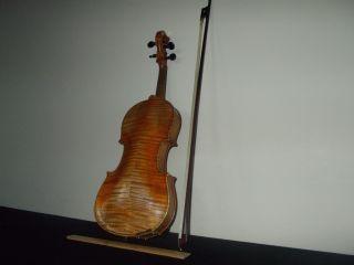 Bernh.  Schindler Markneukirchen Antique Figured Maple German Violin,  Bow&case Nr photo
