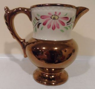 Antique Cooper Luster Pitcher photo