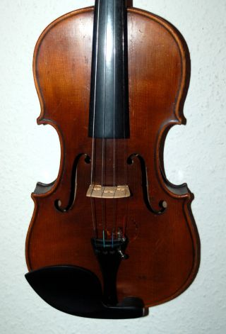 Fine Antique Handmade German 4/4 Violin - From The 1920 ' S photo