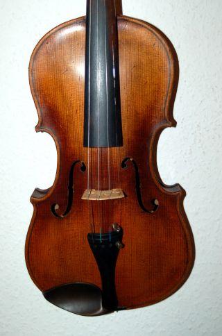 Fine Antique Handmade German 4/4 Violin - Label Joh.  Bapt.  Schweitzer photo