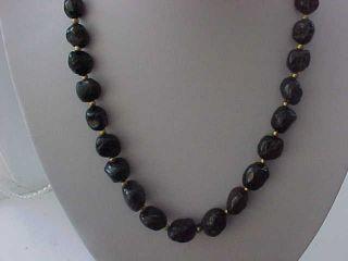 Roman Necklace Of Garnet Coloured Glass Beads Circa 100 - 400 A.  D. photo