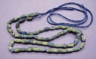 Ancient Roman Stone Carved Lapis Lazuli Necklace photo