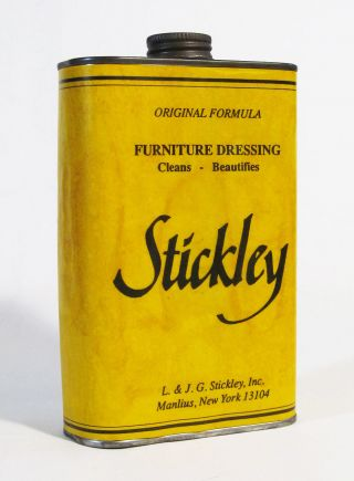 Rare L.  & J.  G.  Stickley,  Inc Orig.  Formula Furniture Dressing Cleaner Can photo
