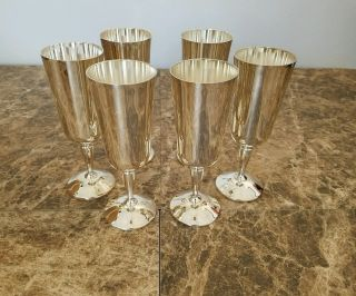 Roma S.  L 6 Silver Plated Whiskey Goblets photo