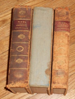1813 Antique Medical Books Nosographie Philosophique La Médecine 3 Vols Leather photo