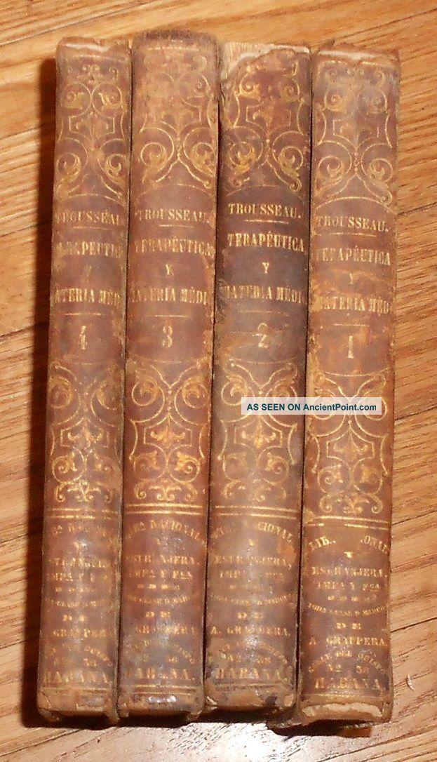 1863 Antique Medical Books Terapeutica