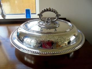 Silver Plated Entree Dish photo