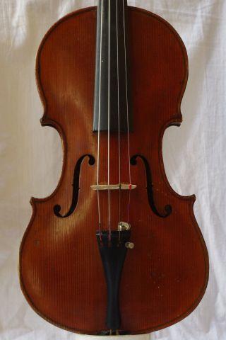 Antique Violin By Franz Schramm,  Graslitz photo