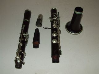 Rare Antique Agostino Rampone Milano Brevettato Wood Clarinet With Leather Case photo