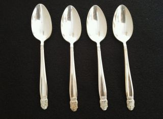 Four Holmes & Edwards 1938 Danish Princess Silverplate Flatware Teaspoons photo