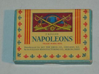 Rare Vintage Napoleons Condoms Full Box Of Three Great Graphics Vhtf photo