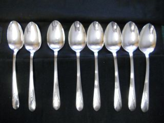 Vintage Rogers Silverplate Oval Soup/place Spoons Inheritance 1941 W/wrap photo