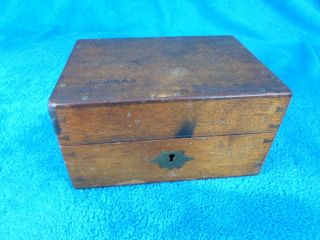 Edwardian Oak Dovetailed Box. photo