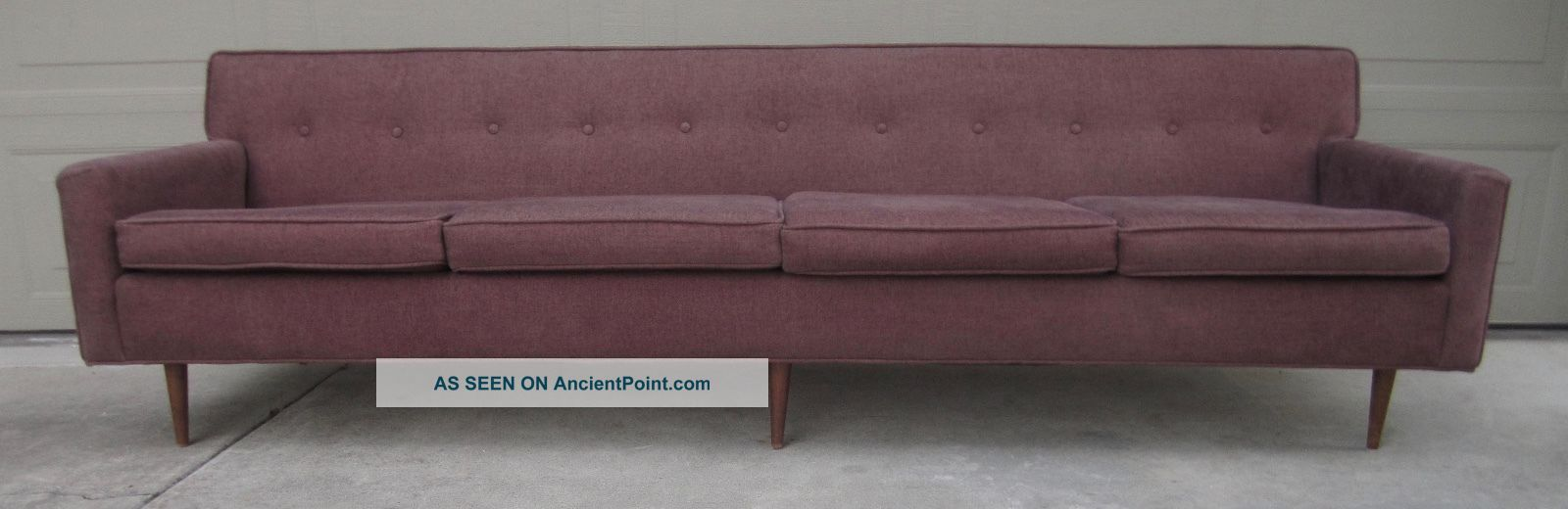Vintage Milo Baughman Paul Mccobb Martin Borenstein (?) Metropolitan 8 ' Sofa Post-1950 photo