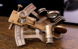 Brass Sextant Maritime Nautical Sextant Home & Office Decorative Marine Sextant photo