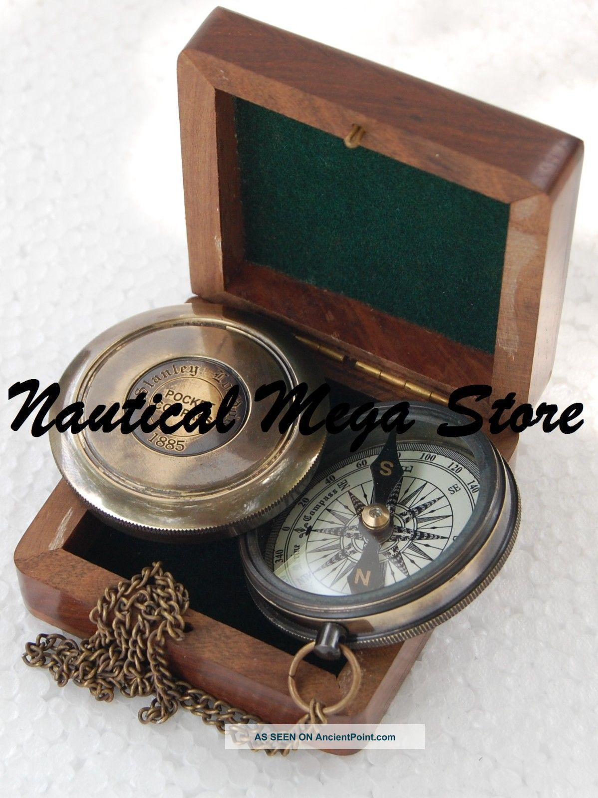 Vintage Robert Frost Poem Compass Brass Compass Nautical Compass Collectible Compasses photo