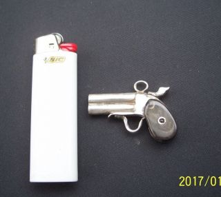 French Stanhope Pictures Sterling Silver Pistol Shaped Viewer Scent Bottle photo