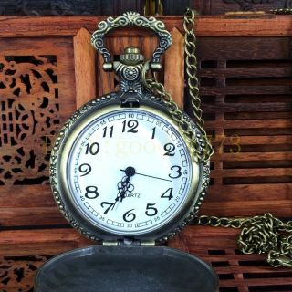 Christmas Carved Pure Copper Quartz Pocket Watch To Work Normally Hero Alliance photo