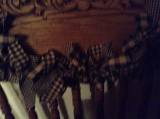 Country,  Primitive 6 ' Black And Tan Garland,  Swag Hand Tied photo
