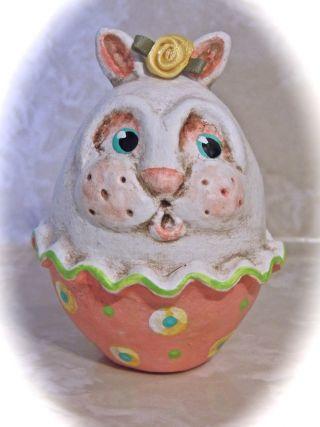 Primitive Folk Art Easter Bunny Pfatt Adsg photo