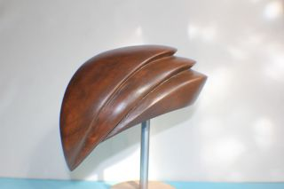 Hat Block Fascinator Form Wooden - Hutform Holz photo