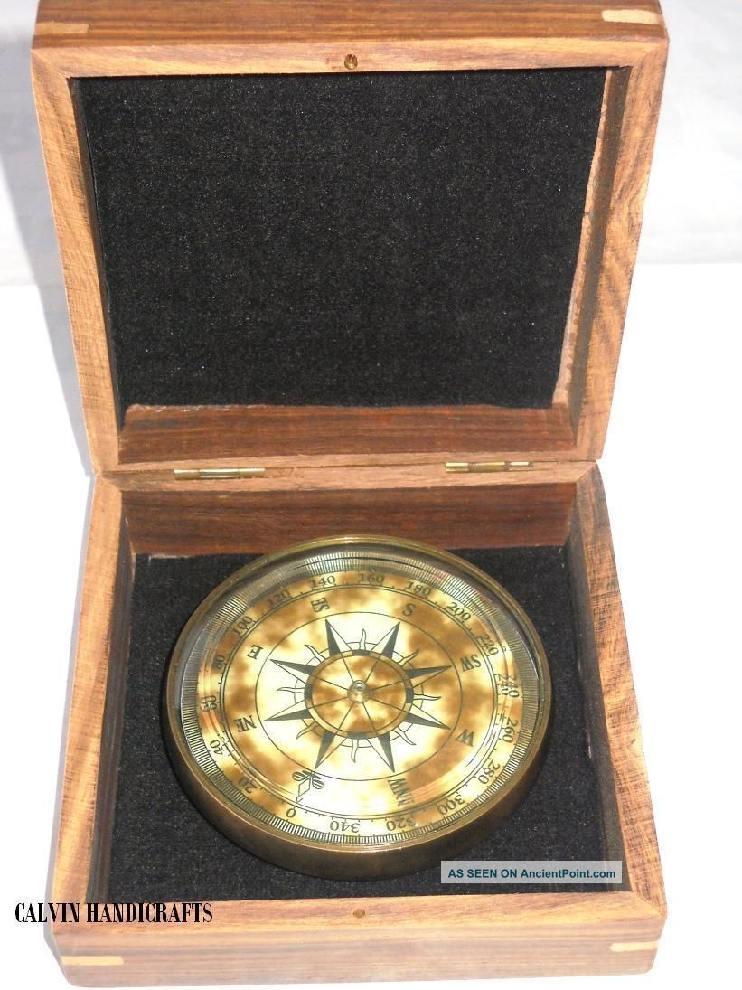 Brass Nautical Drum Compass - Promotional Gift Compass Compasses photo