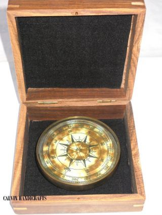 Brass Nautical Drum Compass - Promotional Gift Compass photo