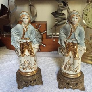 Vintage Japan Porcelain/ceramic Colonial Couple Figure/statues photo