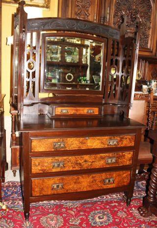 Antique English Mahogany Dresser / Vanity photo