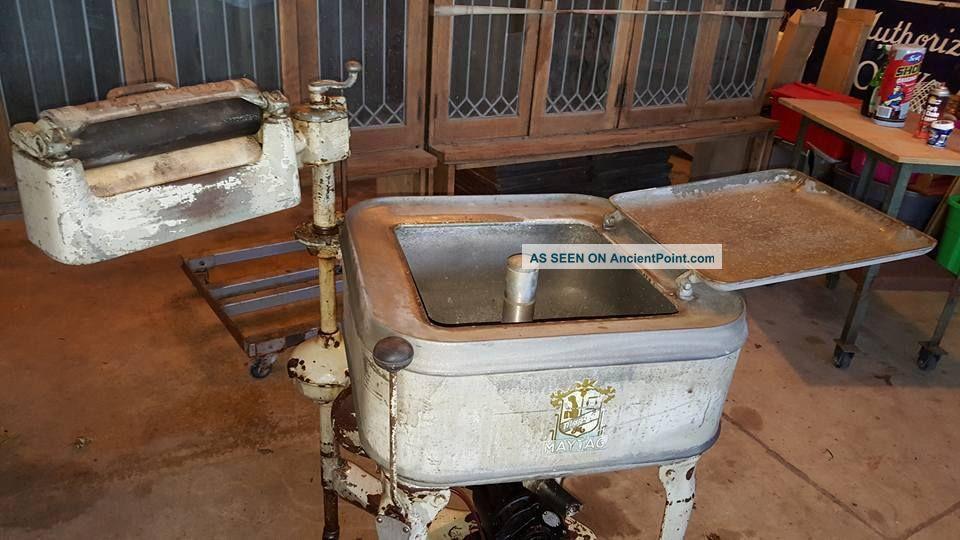 Antique 1928 Maytag Wringer Washer Washing Machines photo
