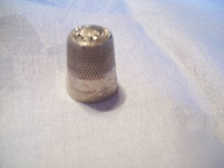 Vintag Antique Signed Simons Brothers Thimble Sterling Silver 1920s 1930s photo