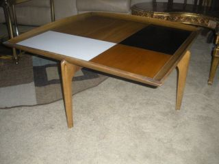 Vintage Danish Modern Coffee Table John Keal For Brown Saltman photo