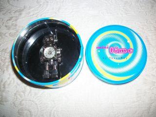 Silver Tokybot Tokyo Bay Robot Clock Miniature In Tin photo