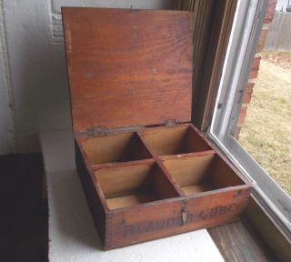 1890s Homemade Wood Storage Box Made From Kilmer ' S Swamp Root Cure Dovetail Box photo