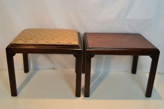 Unique Chinese Chippendale,  Dual Use,  Benches Side Tables,  Circa 1920 ' S photo