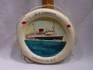 Jack Hardcastle Mid 20thc Painting Steamship Ss Camosun Nanaimo Bc Canada photo