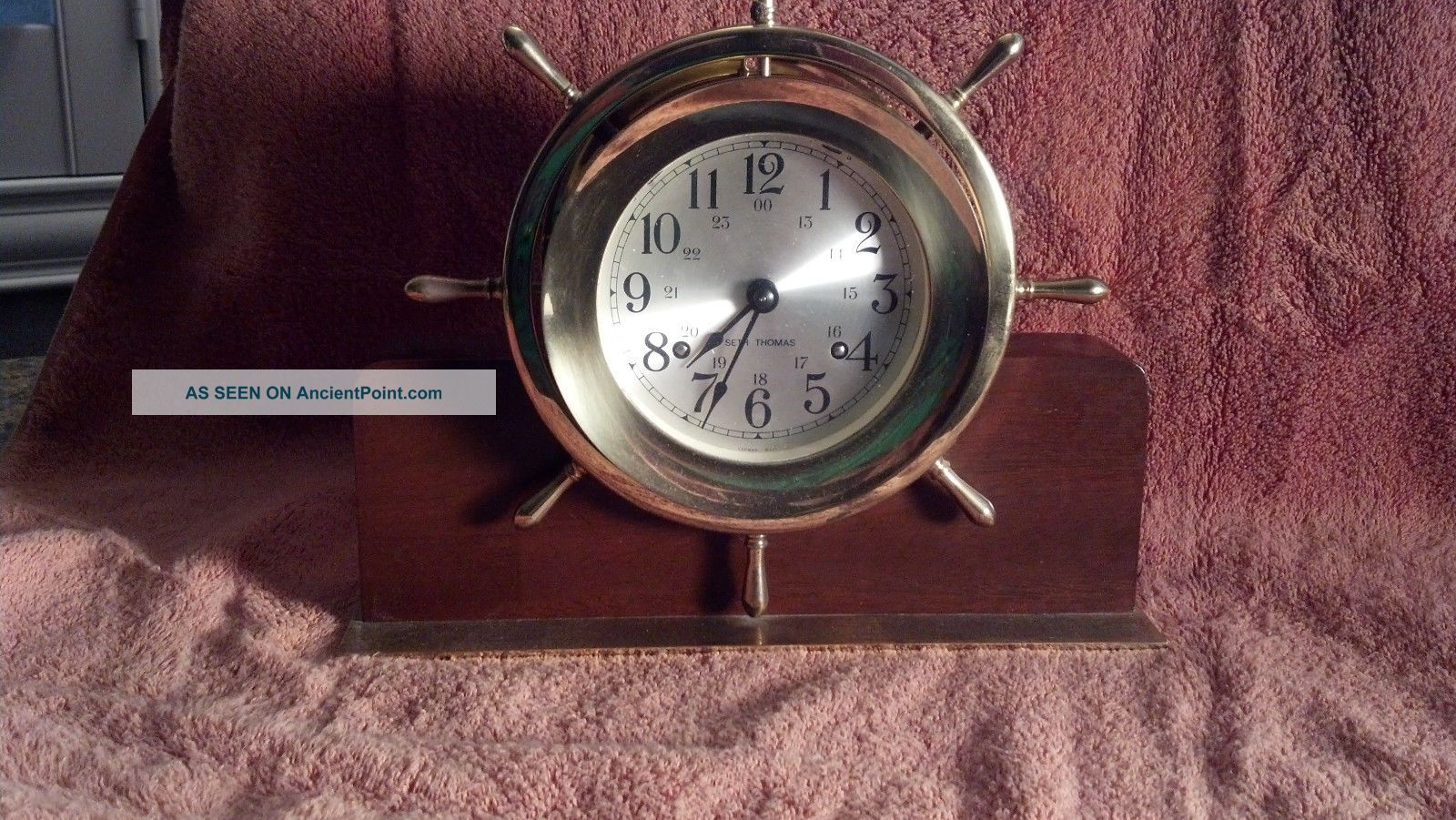 Seth Thomas Helmsman Brass Clock - But In Physical Clocks photo