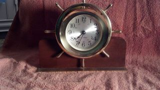 Seth Thomas Helmsman Brass Clock - But In Physical photo