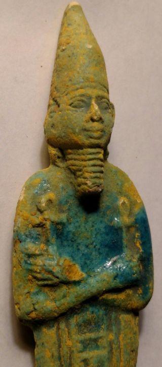 Egyptian Antique,  King Tutankhamun Amulet Faience,  37.  9 G, photo