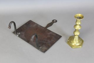 Extremely Rare 18th C Wrought Iron Hanging Bar Trivet In The Best Old Surface photo