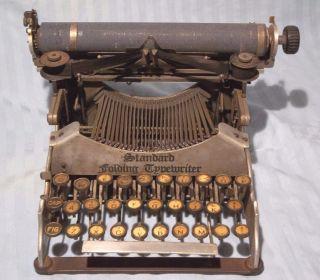 Antique Standard Folding Typewriter Co.  Groton,  Ny 1904,  1910 Pat.  Very Rare photo