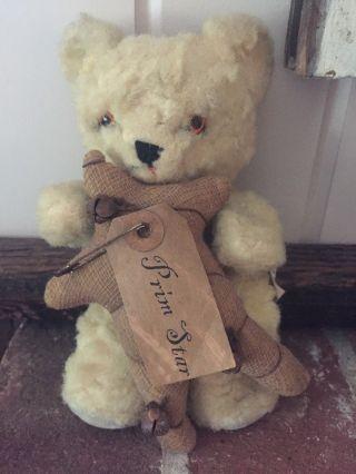 Vintage Bear Knickerbocker Toy Company Star Primitive Rustic Teddy Kuddles Usa photo