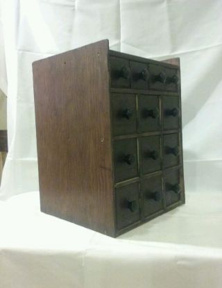 Vintage 13 - Cheese Box Drawer Cabinet Apothecary Cabinet - Spices - Hardware - Storage photo