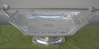Vintage Marcus & Co.  Sterling Silver Footed Centerpiece.  C.  1940.  Awesome Beauty photo