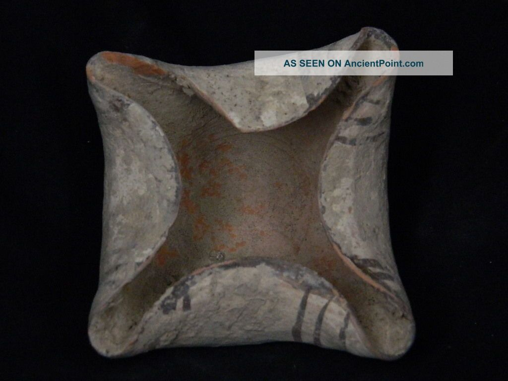 Ancient Teracotta Painted Lamp Indus Valley C.  2500 Bc Pt15547 Near Eastern photo