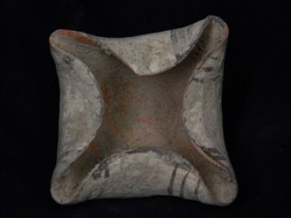 Ancient Teracotta Painted Lamp Indus Valley C.  2500 Bc Pt15547 photo