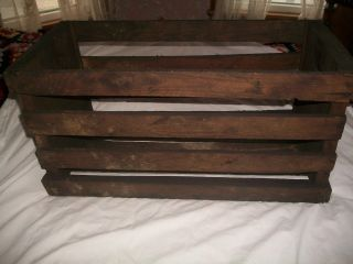 Primitive Sturdy Wooden Industrial Crate/fire Wood Box Handmade Heavy photo