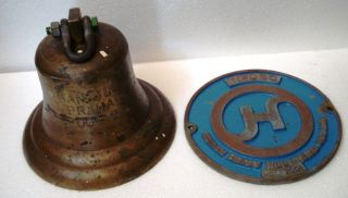 Hanjin Praha 2001 Marine Brass Bell & Builder ' S Plate / Plaque - 100 photo