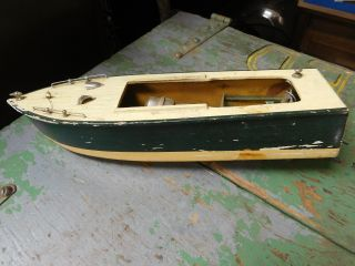 Vintage Motorized Battery Operated Pond Yacht Needs Work photo
