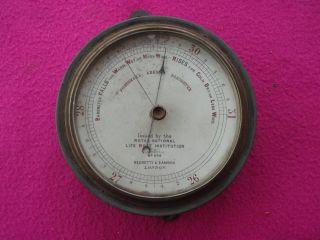 Victorian Rnli Fishermans Aneroid Barometer By Negretti & Zambra Of London photo